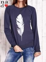 Grafitowa bluza z piórkiem                                  zdj.                                  1