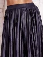 Grafitowa plisowana spódnica maxi
