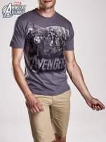 Grafitowy t-shirt męski AVENGERS