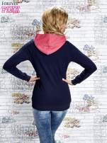 Granatowa bluza z kolorowymi wstawkami                                  zdj.                                  4