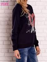 Granatowa bluza z motywem paryskim                                  zdj.                                  3