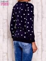 Granatowa bluza z nadrukiem jabłuszka                                                                          zdj.                                                                         4