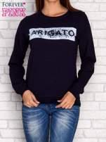 Granatowa bluza z napisem ARIGATO