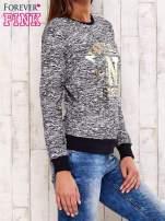 Granatowa bluza z napisem NEW YORK STREET