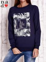 Granatowa bluza z napisem PARADISE                                  zdj.                                  1