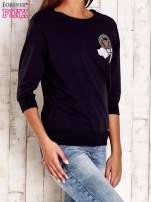 Koralowa bluza z naszywkami i ściągaczami