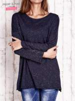 Granatowa brokatowa bluzka oversize                                  zdj.                                  1