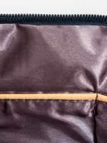 Granatowa kopertówka z dżetami motyw czaszki