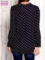 Granatowa koszula z morskim nadrukiem                                                                          zdj.                                                                         4