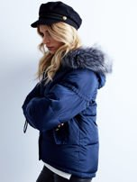 Granatowa kurtka zimowa pikowana                                  zdj.                                  1