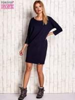 Granatowa sukienka oversize                                  zdj.                                  2