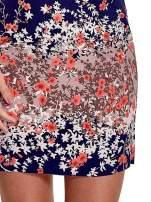 Granatowa sukienka z dekoltem na plecach                                                                          zdj.                                                                         6
