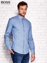 HUGO BOSS Niebieska koszula męska w kolorową kratkę                                  zdj.                                  2