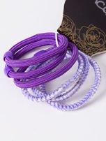 INCA Komplet kolorowych gumek do włosów w odcieniach fioletu 6 szt.