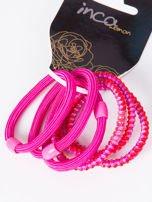 INCA Komplet kolorowych gumek do włosów w odcieniach różu 6 szt.