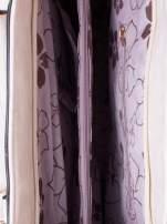 Jasnobeżowa fakturowana torba z odpinanym paskiem                                                                          zdj.                                                                         6