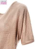 Jasnobrązowy siateczkowy sweter oversize                                                                          zdj.                                                                         6