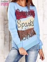 Biała bluza z napisem GLITTER SPARKLE SHINE