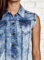 Jasnoniebieska denimowa koszula z surowym wykończeniem                                  zdj.                                  6