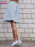 Jasnoniebieska spódnica w grochy z plisami                                                                          zdj.                                                                         4