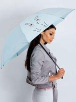 Jasnoniebieski składany parasol                                  zdj.                                  1