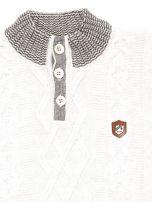 Jasnoniebieski sweter dla chłopca w warkocze                                  zdj.                                  3
