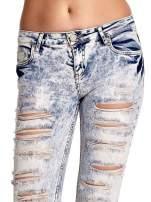 Jasnoniebieskie spodnie jeansowe dzowny cut out                                                                          zdj.                                                                         5