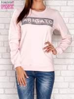 Jasnoróżowa bluza z napisem ARIGATO                                  zdj.                                  1