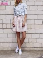 Jasnoróżowa spódnica w grochy z plisami                                  zdj.                                  3