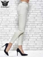 Jasnoszare spodnie rurki skinny                                  zdj.                                  3