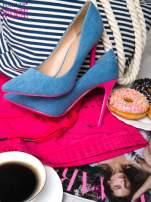 Jeansowe szpilki na różowym obcasie Denim Glam                                  zdj.                                  5