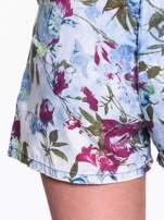 Jeansowy krótki kombinezon w kwiaty                                  zdj.                                  8