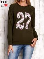 Khaki bluza z cyfrą 27                                  zdj.                                  1