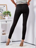 Khaki dopasowane spodnie high waist                                  zdj.                                  2