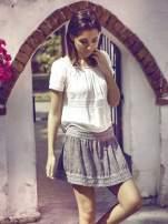 Khaki spódnica z efektem dekatyzowania
