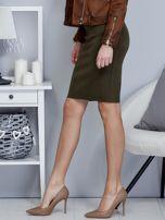 Khaki spódnica z imitacji zamszu                                  zdj.                                  3
