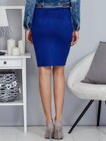 Kobaltowa spódnica z imitacji zamszu                                  zdj.                                  2
