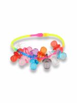 Kolorowa Bransoletka z zawieszkami w kształcie smoczków - baby shower                                  zdj.                                  1