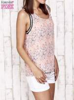 Koralowa bluzka koszulowa w łączkę                                                                          zdj.                                                                         4