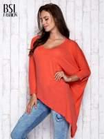 Koralowa melanżowa bluzka oversize                                  zdj.                                  3