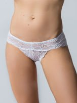 Koronkowe majtki damskie,3 sztuki: chabrowy, różowy, biały                                  zdj.                                  4