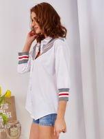Koszula biała ze ściągaczem                                  zdj.                                  3