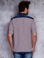 Koszula męska w kratkę z denimowym wykończeniem PLUS SIZE                                  zdj.                                  2
