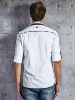 Koszula męska z kieszenią biała PLUS SIZE                                  zdj.                                  2