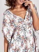 Koszula o kroju oversize we wzór w łączkę