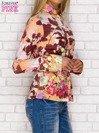 Koszula z nadrukiem kwiatów i pasków fioletowa                                  zdj.                                  3