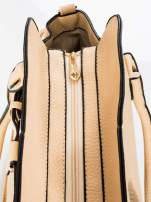 Kremowa torba z klamrami z odpinanym paskiem                                  zdj.                                  6