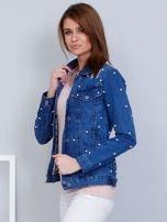 Kurtka jeansowa niebieska z perełkami                                  zdj.                                  3