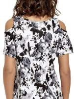 Kwiatowa sukienka cut out shoulder                                  zdj.                                  7