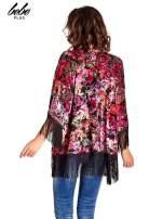 Kwiatowe kimono z frędzlami